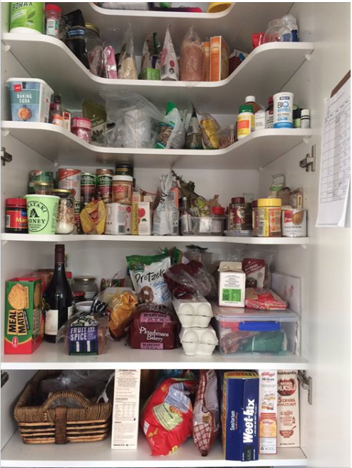 over 100 plastic items in our pantry